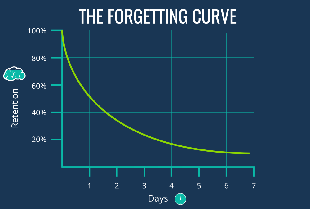 la curva dell'oblio. memorizzazione a lungo termine